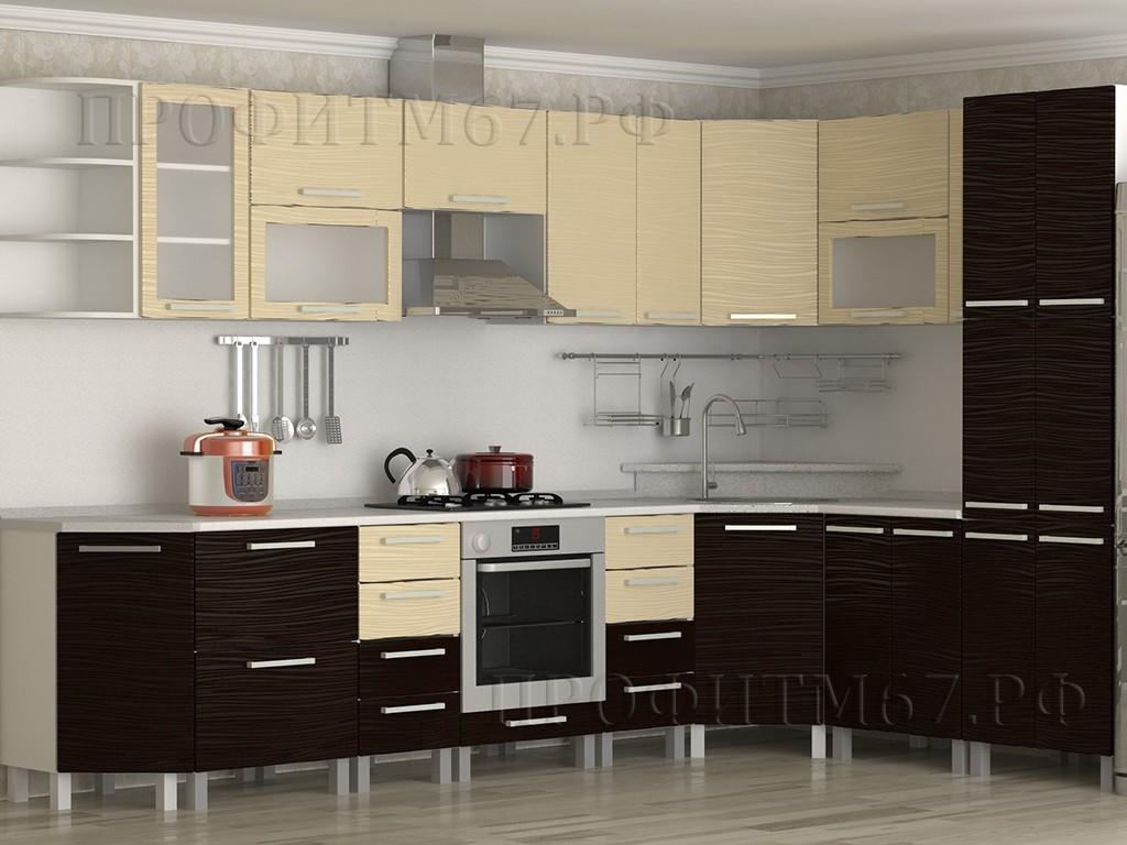 """Кухонные модули """"Ваниль тисненый - Шоколад тисненый"""""""