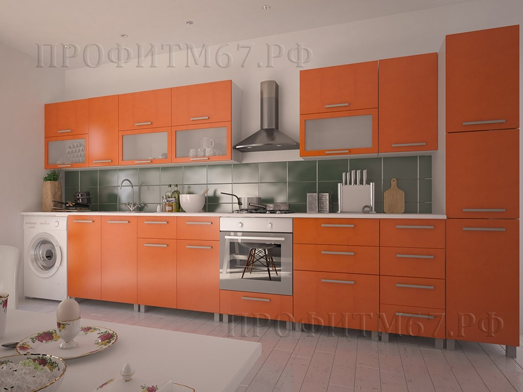 "Кухонные модули ""Оранжевый металлик"""