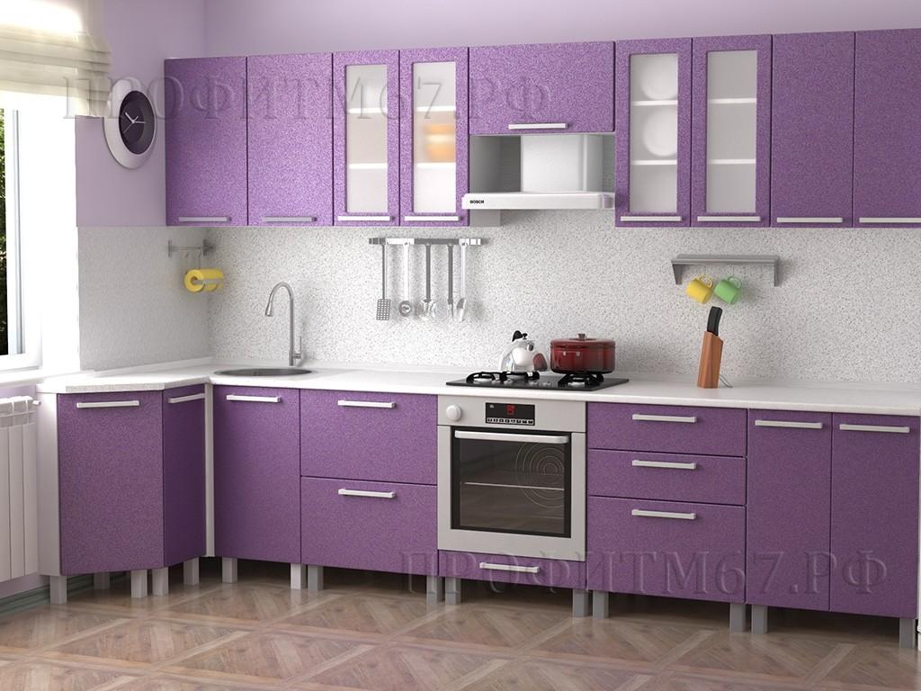 """Кухня МДФ """"Фиолетовый металлик"""""""