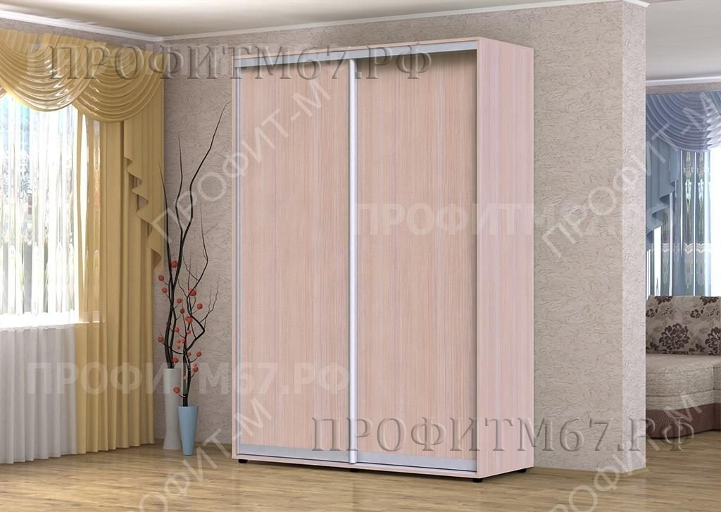 "Шкаф-купе ""Версаль"" шкаф 2 молочный алюминий"