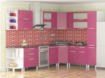 Кухня Брусничный металлик
