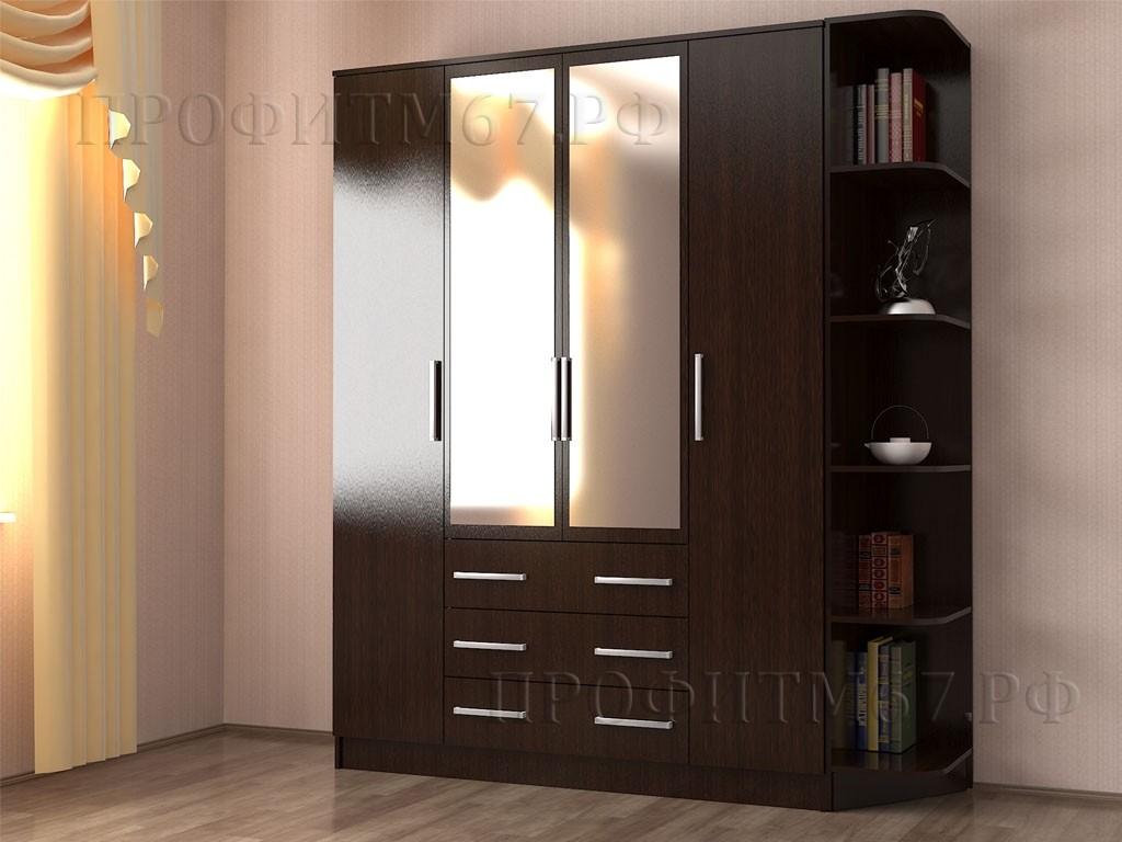 Шкаф 4-створчатый №1 ЛДСП