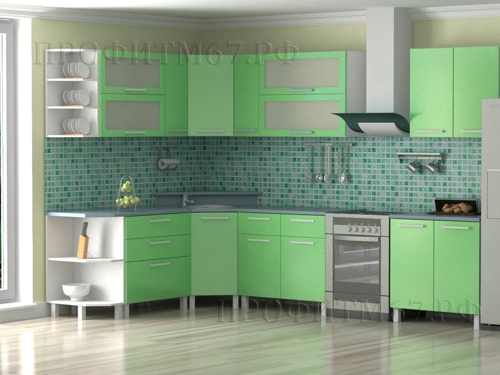 Кухонные модули «Салатовый металлик»