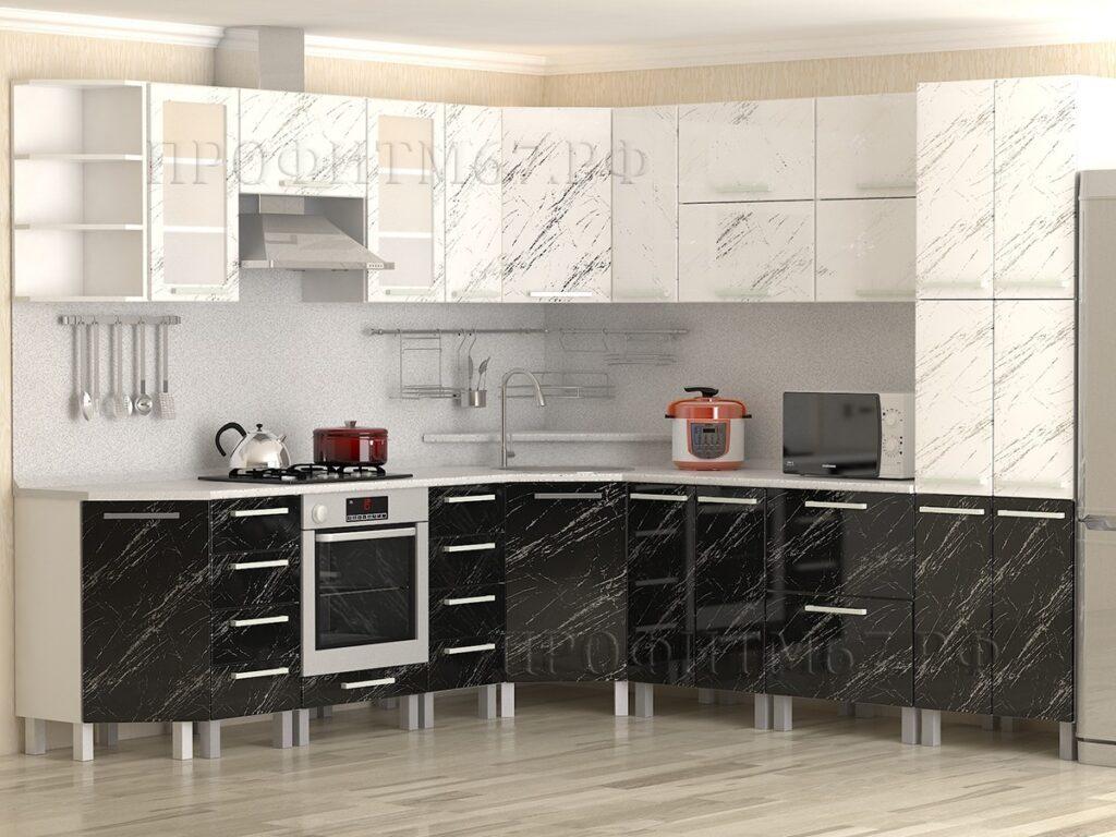 """Кухонные модули """"Молния белая и Молния черная"""""""