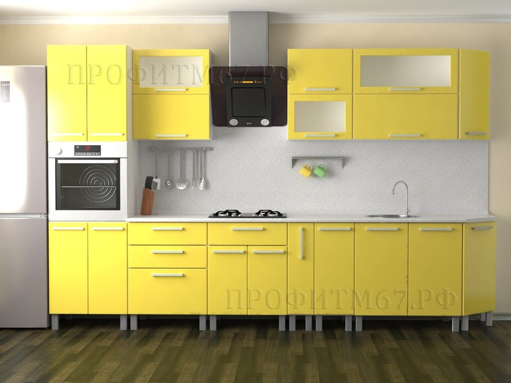 "Кухонные модули ""Желтый глянец"""