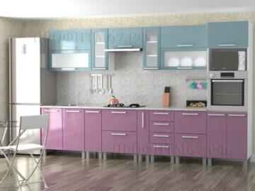 Кухонные модули «Шторм глянец - Фиалка глянец»