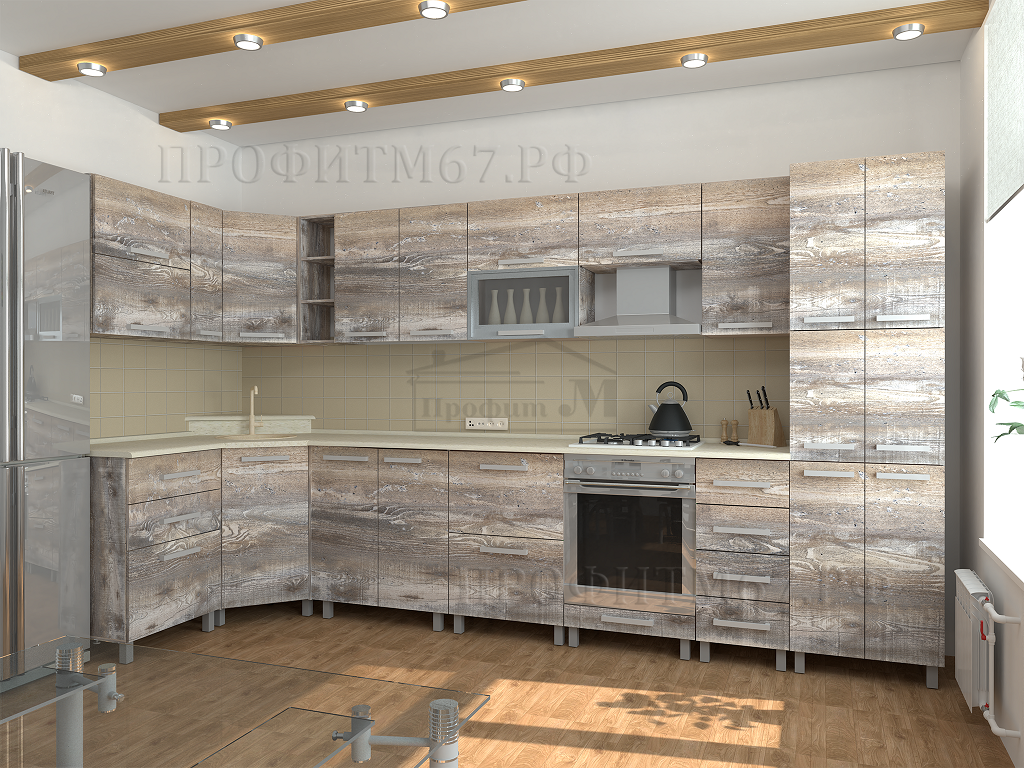ПрофитМ Кухня Битон Пайн угловая для сайта и распространения
